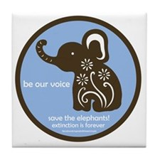 SAVE THE ELEPHANTS! Tile Coaster