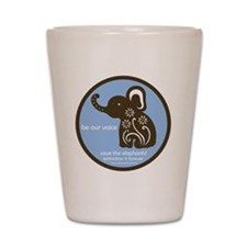 SAVE THE ELEPHANTS! Shot Glass