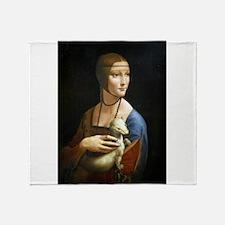 Lady With an Ermine - da Vinci Throw Blanket