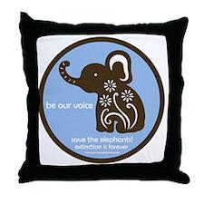 SAVE THE ELEPHANTS! Throw Pillow