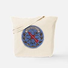 uss oklahoma city cg patch transparaent Tote Bag