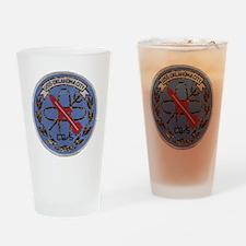 uss oklahoma city cg patch transpar Drinking Glass