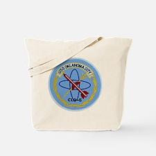 uss oklahoma city clg patch transparent Tote Bag