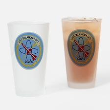 uss oklahoma city clg patch transpa Drinking Glass