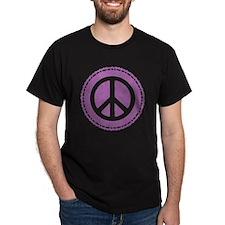 Classic Purple Peace Sign T-Shirt