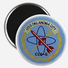 uss oklahoma city clg patch transparent Magnet
