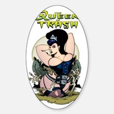 Queen of Trash Sticker (Oval)