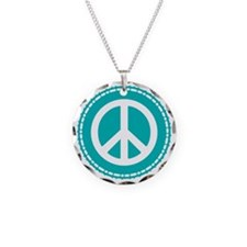 Classic Teal Peace Sign Necklace