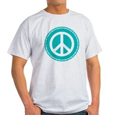Classic Teal Peace Sign T-Shirt