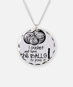 I crochet and have the balls Necklace