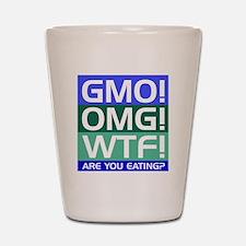 GMO callout Shot Glass