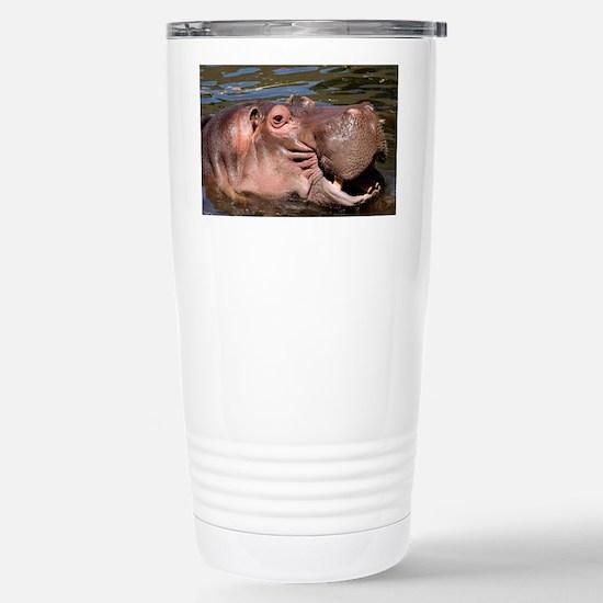 Happy Hippo Stainless Steel Travel Mug