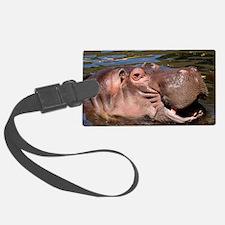 Happy Hippo Luggage Tag