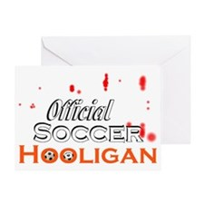 Official Soccer Hooligan Greeting Card