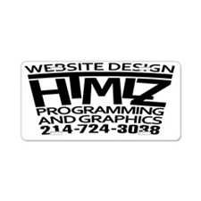 HTMLz Logo + Phone Aluminum License Plate