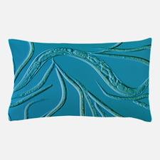 LM of the nematode worm, Caenorhabditi Pillow Case