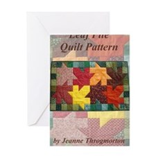 Leaf Pile quilt pattern front cover Greeting Card
