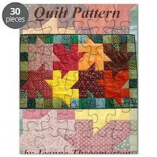 Leaf Pile quilt pattern front cover Puzzle