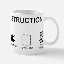 Washing instructions funny shower curta Mug