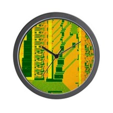 LM of part of the surface of a silicon  Wall Clock