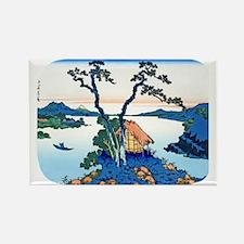 Hokusai Mt. Fuji View from .Suwa Rectangle Magnet