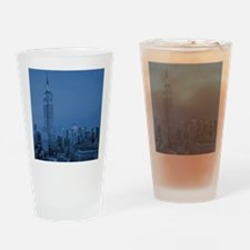 NYC, Empire State, Blue Drinking Glass