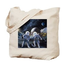 Lunar survey team Tote Bag