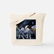 Lunar survey team Tote Bag