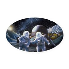Lunar survey team Oval Car Magnet