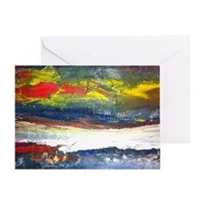 Original Abstract Painting of the Ri Greeting Card