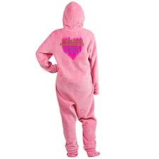 Veteran Caregiver Heart 2.0 Footed Pajamas