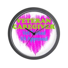 Veteran Caregiver Heart 2.0 Wall Clock