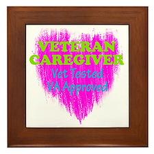 Veteran Caregiver Heart 2.0 Framed Tile