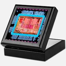 Macrophoto of an 486 computer silicon Keepsake Box