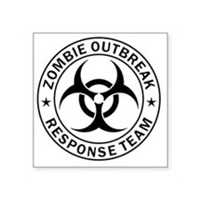 "ZOMBIE RESPONSE TEAM R0001 Square Sticker 3"" x 3"""