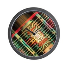 Macrophoto of silicon chips (linear mot Wall Clock
