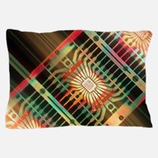Macrophoto of silicon chips (linear mo Pillow Case