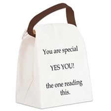 You are special, yes you. Canvas Lunch Bag