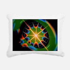 Magnetic field of superc Rectangular Canvas Pillow
