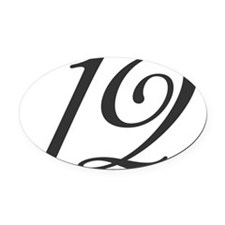 Its the number 12 Oval Car Magnet