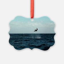 Mako shark on a fishing line Ornament