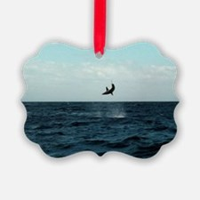Mako shark on a fishing line Picture Ornament