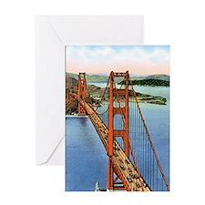 Vintage Golden Gate Bridge Greeting Card