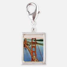 Vintage Golden Gate Bridge Silver Portrait Charm