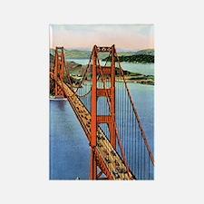 Vintage Golden Gate Bridge Rectangle Magnet