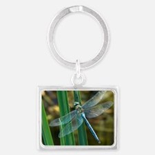 Male emperor dragonfly Landscape Keychain