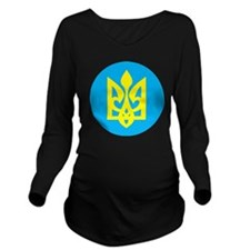 Women's Tryzub Long Sleeve Maternity T-Shirt