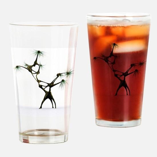Low gravity alien, artwork Drinking Glass