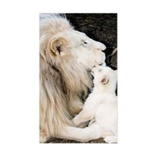 Male white lion and cub Decal