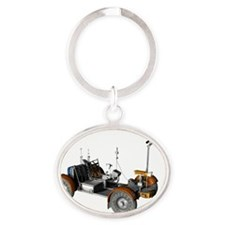 Lunar rover, artwork Oval Keychain